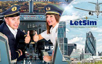 45min. letecký simulátor! Let centrem Londýna s panoramatickým výhledem na město včetně certifikátu!