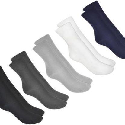 NOVIA Ponožky Bambus, kombinace barev - 5 párů, Ponožky - velikost 30-31