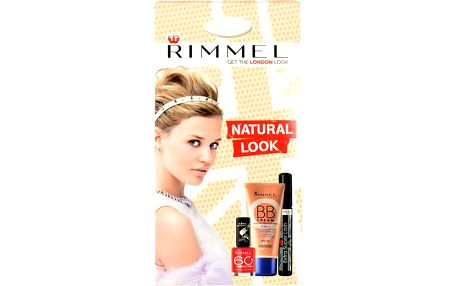 Rimmel London BB Cream 9in1 SPF25 dárková sada W - 30ml BB Cream 9in1 SPF25 + 8ml Mascara Extra Super Lash Black + 8ml 60 Seconds Nail Polish 315 - Odstín Medium