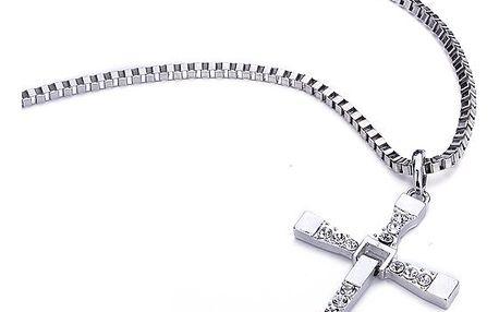 Pánský náhrdelník s ozdobným křížem
