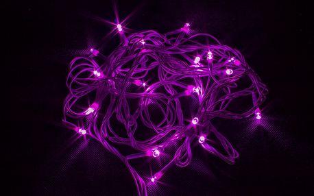 Vánoční LED osvětlení - 50 LED řetěz bílý