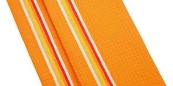 TESCOMA utěrka na nádobí PRESTO TONE 70x50 cm, 2 ks, mix, oranžová