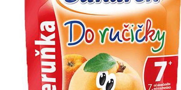 6x SUNÁREK Do ručičky meruňka 90g - ovocný příkrm