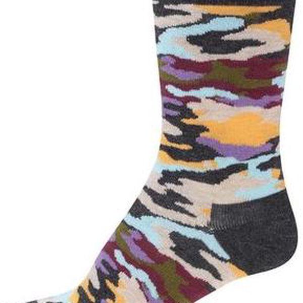Barevné unisex maskáčové ponožky Happy Socks Bark