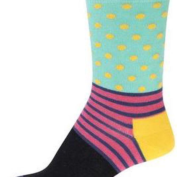 Barevné dámské vzorované ponožky Happy Socks Stripe Dot