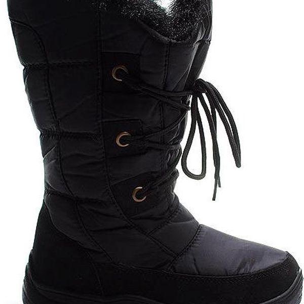 Černé teplé sněhule IL0073B Velikost: 38