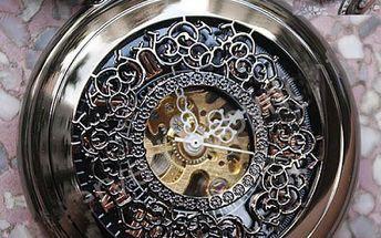 Pánské kapesní hodinky steampunk samonatahovací