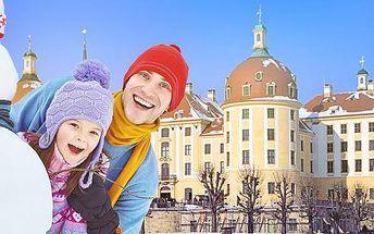 Návštěva zámku Moritzburg s Popelkou a adventních Drážďan