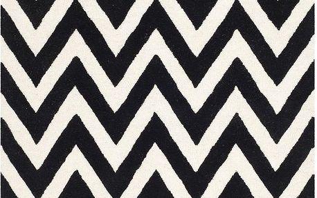Vlněný koberec Stella 152x243 cm, černý - doprava zdarma!