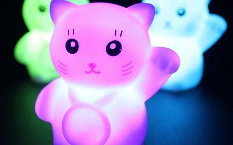 Mini LED lampička v podobě koťátka