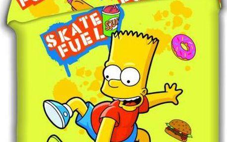 Jerry Fabrics povlečení Bart Simpson skate