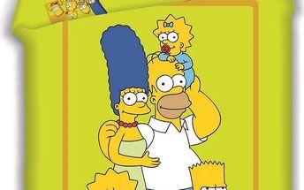 Jerry Fabrics Dětské bavlněné povlečení Simpsons 2015, 140 x 200 cm, 70 x 90 cm