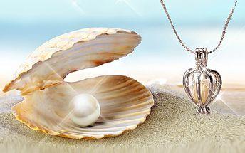 Perla přání!! Klíč k srdci každé ženy!! Nádherný náhrdelník s přívěškem!