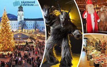 Last minute - Vánoční trhy v Salzburgu a nejznámější slet čertů - 21. a 28.11.2015! Čertí rej budete sledovat přímo na hlavní promenádě krásně vyzdobeného Salzburgu! Zažijte děsivé čerty, vynikající Mozartovy koule a atmosféru adventního města!