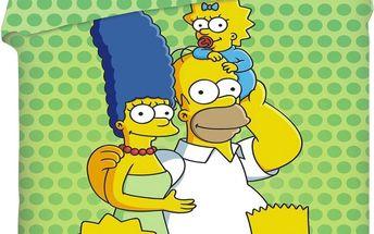 Jerry Fabrics Dětské bavlněné povlečení The Simpsons family 2014, 140 x 200 cm, 70 x 90 cm