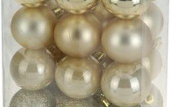 Vánoční koule 24 x 60 mm zlaté