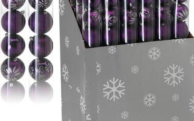 Vánoční koule 9 x 80 mm fialové