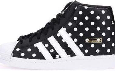 Bílo-černé dámské kožené tenisky se skrytým klínkem adidas Originals Superstar Up