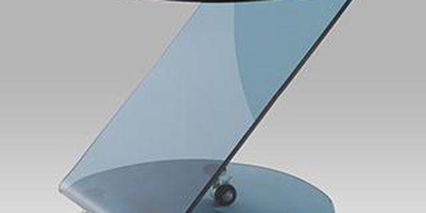 Konferenční stolek, černé sklo ALA 05070