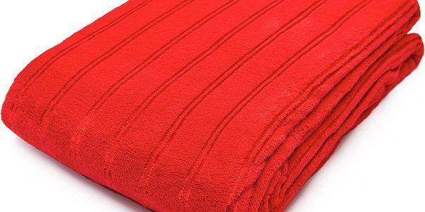 Nádherná vzorovaná deka z mikrovlákna SIERRA červená 150x200 cm Essex