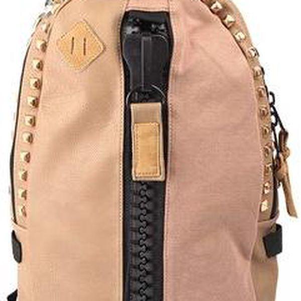 Béžový batoh SUPE design s cvočky