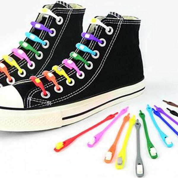 Silikonové trendy tkaničky do bot v různých barvách