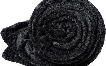 Dreaming Peacock deka mikroflanel - černá 200x230