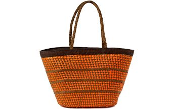 Szaleo Velká taška oranžovo-hnědá