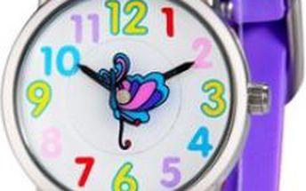 Dívčí silikonové hodinky ve fialové barvě