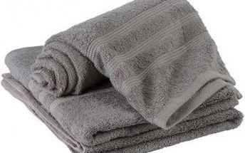 Dreaming Peacock bambusový ručník Elisa - šedá 50x100 cm