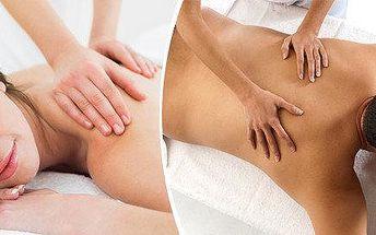 Relaxační masáž zad a šíje