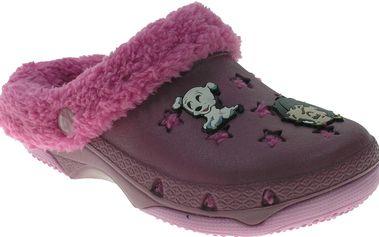 Beppi Dívčí pantofle s kožíškem Betty Boop - fialové