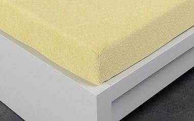XPOSE ® Froté prostěradlo Exclusive dvoulůžko - vanilka 140x200 cm