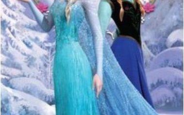 Osuška Jerry Fabrics Ledové Království Anna a Elsa 75 x 150 froté 75x150 cm