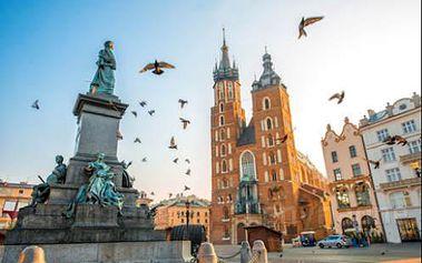 Pobyt v Krakově pro 2 osoby v 3* hotelu s bohatými snídaněmi, bazénem i saunou