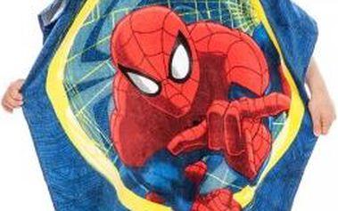 Plážová osuška DětJerry Fabrics Dětské pončo SPIDERMAN 60x120 cm
