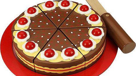 Dřevěný krájecí čokoládový dort (691621023754)