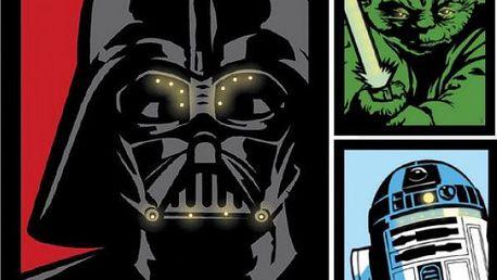 Plátno se světélky Star Wars 40 x 32 cm!
