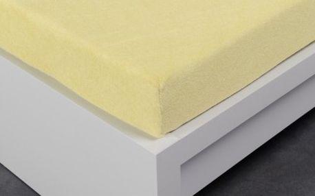 XPOSE ® Froté prostěradlo Exclusive dvoulůžko - vanilka 200x220 cm
