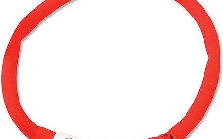 Dog Fantasy LED svítící obojek 70 cm červený