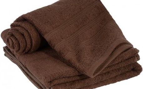 Dreaming Peacock bambusový ručník Elisa - tmavě hnědá 50x100 cm