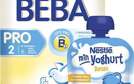 Nestlé BEBA PRO 2 (600g) + Nestlé JOGURT banán (90g) ZDARMA