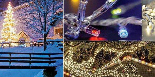 Vánoční LED osvětlení pro venkovní i vnitřní užití! Extra velké LED diody s 8 druhy blikání.