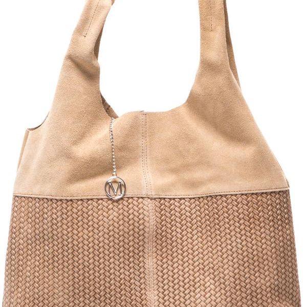 Kožená kabelka Mangotti 875 Fango - doprava zdarma!