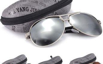 Pánské polarizované sluneční brýle s pouzdrem