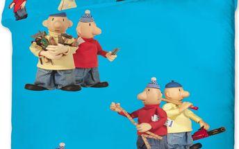 Jerry Fabrics Dětské bavlněné povlečení Pat a Mat modrá, 140 x 200 cm, 70 x 90 cm
