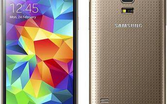Samsung Galaxy S5 mini (SM-G800) (SM-G800FZDAETL) zlatý + Doprava zdarma