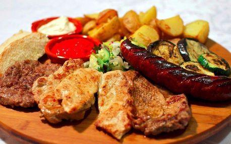 Masové balkánské menu pro 2 osoby