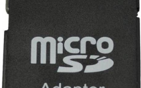 Adaptér MicroSD/SDHC na SD/SDHC paměťové karty