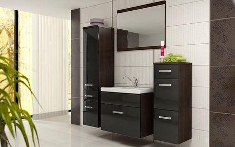 Černý koupelnový nábytek Mildret